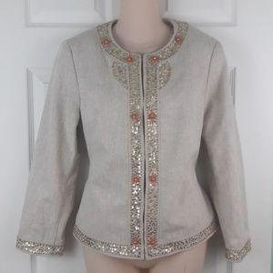 Margaret Frances Jackets & Coats - Margaret Frances Evening Jacket Sequin Detail Sz 8